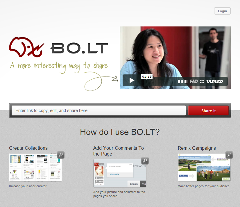Bolt Homepage