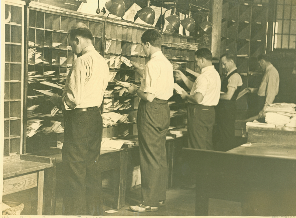 Mail Sorting Room