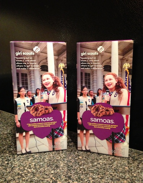 Box of Samoa Girl Scout Cookies