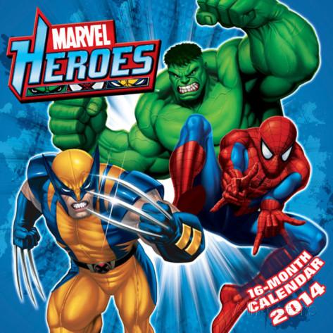 Marvel Heroes 2014 Calendar